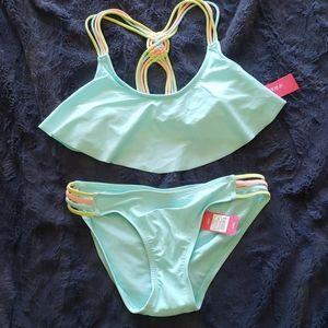 NWT Xhileration mint green bikini - size medium